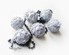 Tree Ornaments, 6 Silver Colour Baubles, Christmas Decoration, Christmas ornaments, Holidays by FallingDew on Etsy