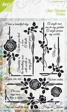 Noor! Design 6410/0310 Clear Stamp  Roses  Have a beautiful day