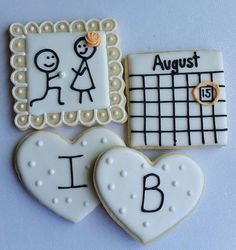 1 Dozen Engagement  Cookies Bridal Shower Proposal by Scookies