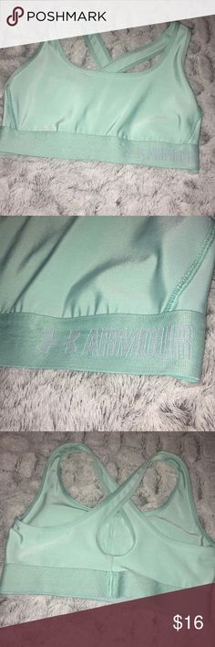 Under Armour Workout Bra In excellent condition. Mint color Under Armour Intimates & Sleepwear Bras