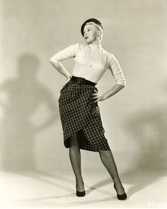 """Ginger Rogers, 1950s. -- she said, I did everything he did (Fred Astaire) except I did it backwards and in high heels.."""""""