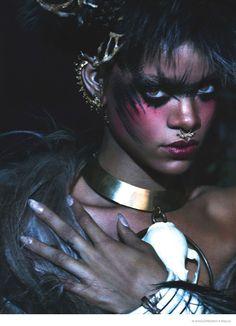 Rihanna for W magazine by Mert & Marcus piercing