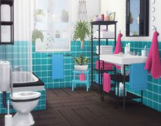 "Sims 4 CC's - The Best: ""IKEA Inspiration"" Bathroom Set by Moony Cat"