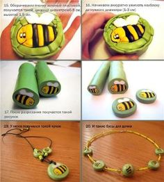 tuto bee polymer clay cane by angelique Fimo Polymer Clay, Polymer Clay Miniatures, Polymer Clay Pendant, Polymer Clay Projects, Polymer Clay Creations, Polymer Clay Jewelry, Clay Crafts, Cane Fimo, Biscuit
