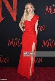 News Photo : Jordyn Jones attends the premiere of Disney's. Jordyn Jones, Glamorous Dresses, Cocktail Gowns, Celebrity Look, Red Carpet Dresses, Red Carpet Looks, Disney Channel, In Hollywood, Theater