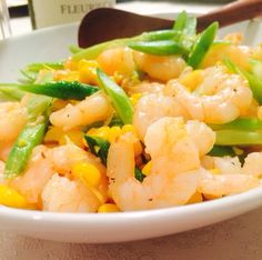 Shrimp And Asparagus, Coconut Recipes, Easy Peasy, Coconut Oil, Meat, With, Food, Essen, Meals