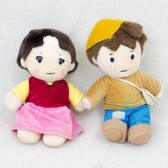 Heidi Girl of the Alps Heidi & Peter Plush Doll Figure JAPAN ANIME MANGA