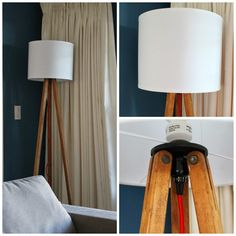 Hello Beautiful: Tripod floor lamp DIY