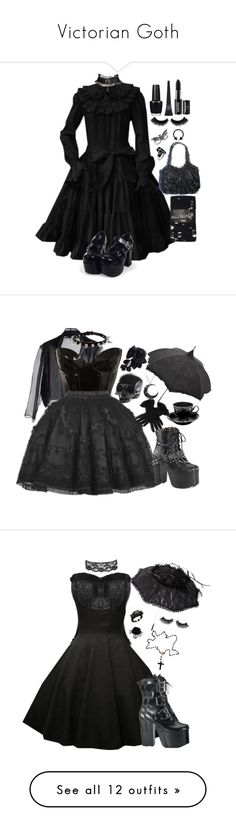 """Victorian Goth"" by siennabrown ❤ liked on Polyvore featuring Topman, Full Tilt, OPI, Maybelline, NYX, Dark, goth, alternative, victoriangoth and gothgoth"
