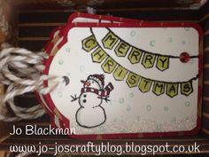 Stampin Up 2014- White Christmas - Christmas tag