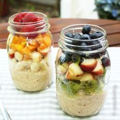 Healthy base breakfast from the glass with amaranth! Smoothie Recipes For Kids, Healthy Muffin Recipes, Healthy Muffins, Clean Eating Recipes, Simple Muffin Recipe, Le Diner, Smoothie Bowl, Lunch Smoothie, Crunches