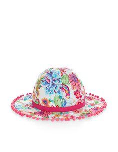 Lyla Print Pom Pom Hat | Multi | Monsoon