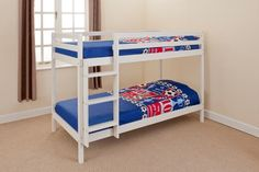 Bunk Bed Pine 2ft6 Shorty in White wash or Natural Pine Small Single in Home, Furniture & DIY, Furniture, Beds & Mattresses | eBay