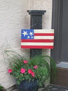 Americana flag from DIY front door enterance pillar!! (I think I may make a bit bigger version to hang on my wall!!)