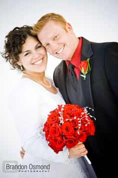 Josh Osmond (Donny's son) with his bride, Vanessa.