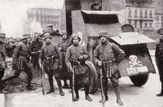 German Freikorps Fighting the Spartacist uprising in Berlin 1919