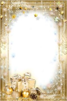 Wrapped with Gold~~J Christmas Frames, Christmas Scenes, Noel Christmas, Christmas Paper, Christmas Pictures, Christmas Cards, Christmas Decorations, Christmas Boarders, Christmas Background