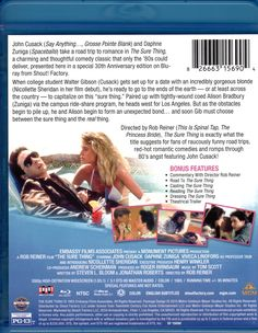The Sure Thing Blu-ray: 30th Anniversary Edition