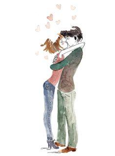 Love watercolor by Luisa Montalto