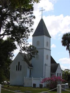 Old St. Luke's Episcopal Church and Cemetery in Brevard County, Florida.