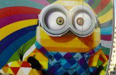 Kobra cria mural dos Minions no Rio de Janeiro;