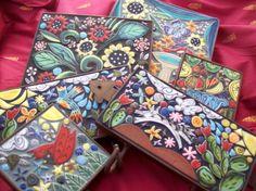 Examples of #tile #mosaics with Santa Theresa Tile Works' handmade tile