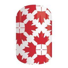 Jamberry Nail Wraps   O'Canada #totallysublimenails #jamberry #nails #nailwraps #madeintheusa #vegan #crueltyfree #canada