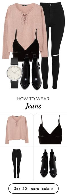 """""""Untitled #6627"""" by laurenmboot on Polyvore featuring Topshop, MANGO, T By Alexander Wang and Alexander Wang"""