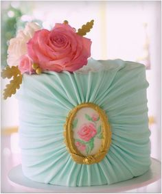 Ruched Fabric Cake tutorial - SugarEd Productions