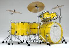 Tama STAR Drum Bubinga in Sunny Yellow Lacquer finish