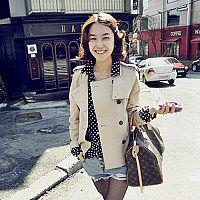 new springtemperament Delta short coat self long sleeve jackets coats women