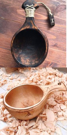 Wooden Spoon Carving, Carved Spoons, Wood Spoon, Scandinavian Mugs, Whittling Wood, Wood Shop Projects, Woodworking Crafts, Green Woodworking, Wooden Statues