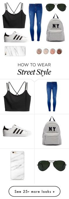 """Street Style"" by thedreamdesigner on Polyvore featuring Dorothy Perkins, adidas Originals, Ray-Ban, Joshua's and Terre Mère"