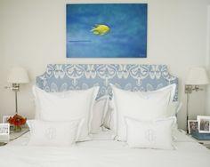 Interior Design Philadelphia New York Palm Beach Nantucket Dream Bedroom, Home Bedroom, Bedroom Ideas, Childrens Twin Beds, Monogram Bedding, Blue Duvet, How To Dress A Bed, Transitional Bedroom, Family Room Decorating