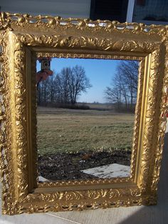 Antique gold gilt oversized victorian mirror by happydayantiques, $80.00