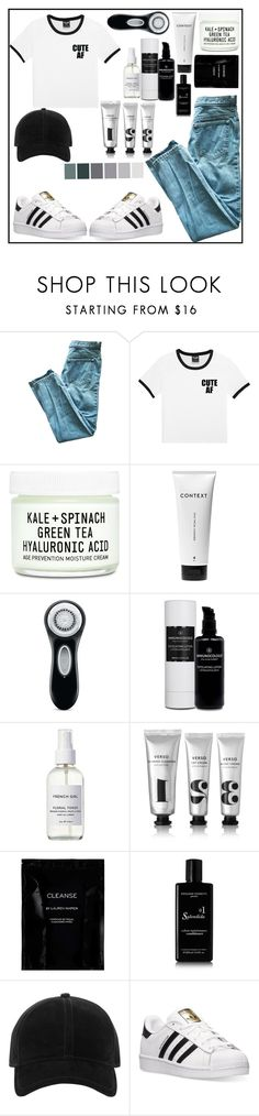 """Untitled #47"" by visionnns ❤ liked on Polyvore featuring Youth To The People, Context, Clarisonic, French Girl, Verso, Cleanse by Lauren Napier, Rossano Ferretti, rag & bone and adidas"