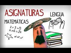 Las asignaturas en español, materias escolares. Vocabulario español - YouTube