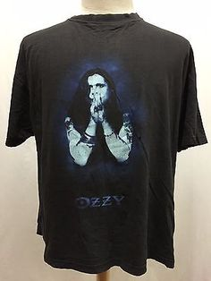 Vintage 1995 Ozzy Osbourne Best of The British T-shirt Size XL