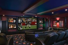 Dream Basement... perfect for football Sundays! - a girl can dream right lol