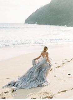 Beach Wedding Photos Majestic Sunrise Bridal Session on the Hawaiian Coast by Inga Vedyan Bridal Session, Bridal Shoot, Wedding Shoot, Wedding Dresses, Wedding Ring, Seaside Wedding, Blue Wedding, Sunrise Wedding, Pre Debut Photoshoot