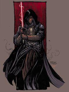 "Star Wars Villain of the Week: Darth Revan ""Art: Brian Ching """