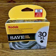 Kodak Black Ink cartridge 30 XL New Sealed all in one inkjet printers office ESP Seal All, Black Ink Cartridge, Ink Cartridges, Inkjet Printer, Printers, I Shop, All In One, Ebay