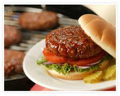 Pork Burgers on Sandwich Buns. #TailgatingWithPork