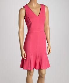 Another great find on #zulily! Pink V-Neck Sheath Dress #zulilyfinds