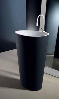 Satri II Black Pedestal Sink Theinteriorgallery.com