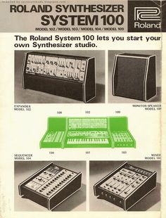 MATRIXSYNTH: 1976 Roland Synthesizer System 100 Model 102/103/1...