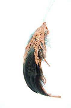 Electroforming Feather Studies by Margaret Hinge