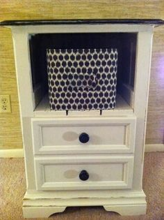 Black and white table