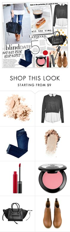 """""""BLIND DATE"""" by rinagq ❤ liked on Polyvore featuring Bobbi Brown Cosmetics, French Connection, Dsquared2, Anya Hindmarch, Anja, Sephora Collection, NYX and CÉLINE"""