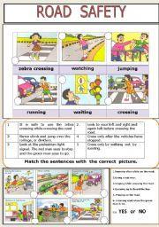 English worksheet: ROAD SAFETY
